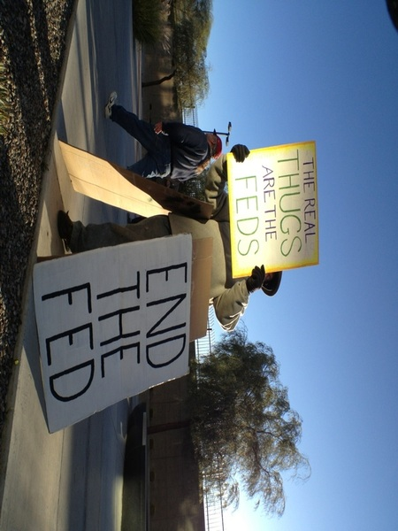 I'm out @OccupyLasVegas  Watch my tweets, pics and video!  @WillRogersUSA @tweetTheStreets