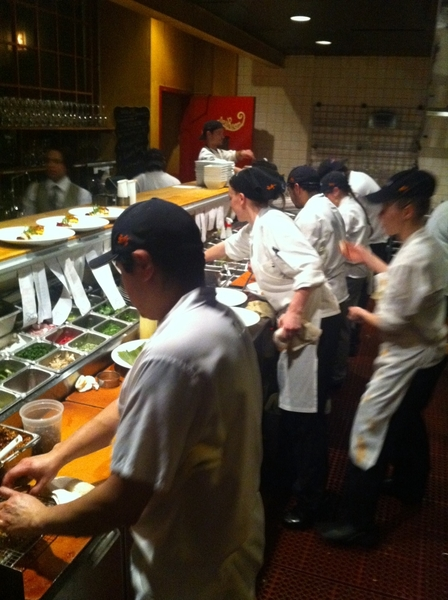 In the thick of the second turn in Topolobampo kitchen.  Gotta love NYE! Going smooth, though. 