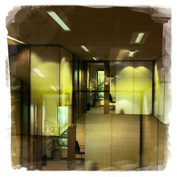 The office hallway with Salvador 84 on Dream canvas #hipstamatic.