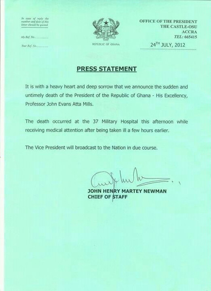 The Press Statement!!!! #RIPattaMills