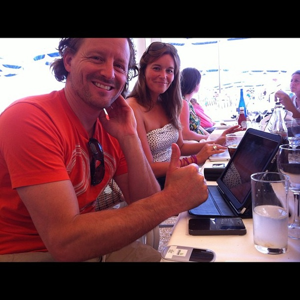 Krijgt net een Droam wireless spot van @Mathys @Mobypicture #canneslions
