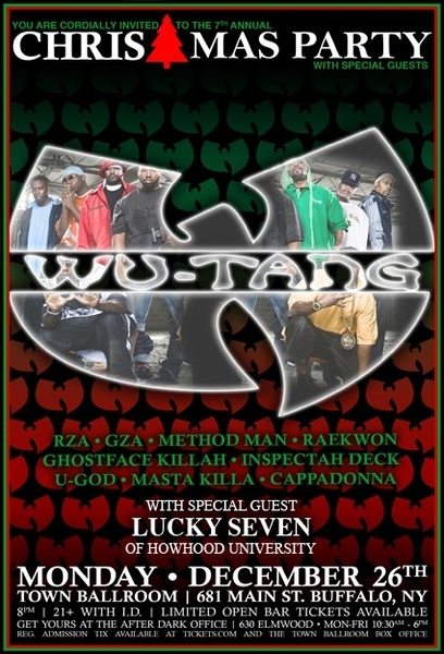 Lucky Seven x Wu-Tang Clan x Dec. 26th x Town Ballroom #Buffalo #HHU #Shine