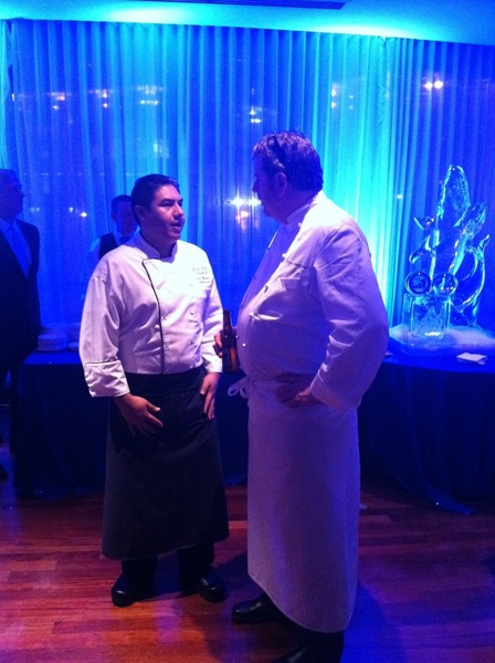 Our Exec Chef Fanor Balderrama with Chef Robert Wiedmeier of @marcelsbeckdc at the TAPS / Big Miracle party
