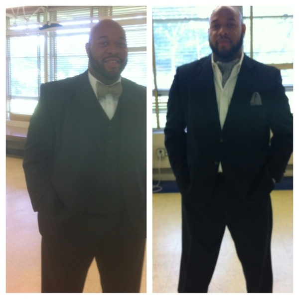 5th grade day 2011 on left  5th grade day 2012 on right  40lbs lighter!